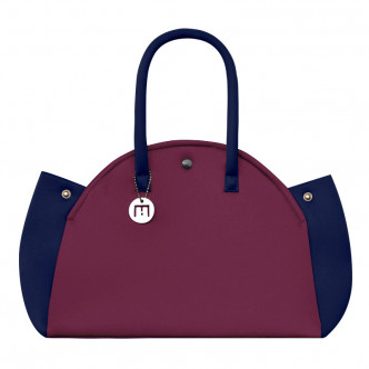 The Wine Red & Dark Blue Indomptable bag