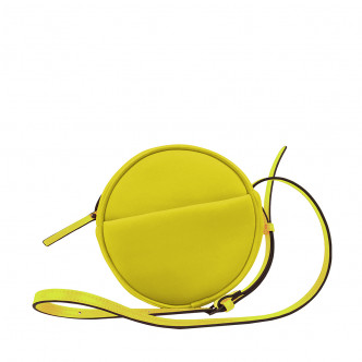 Take the sun with you. Take your yellow Malicieux round handbag!