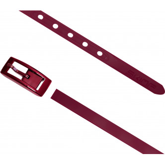 The wine red Charmeuse Belt