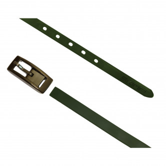 The Army Green Charmeuse Belt