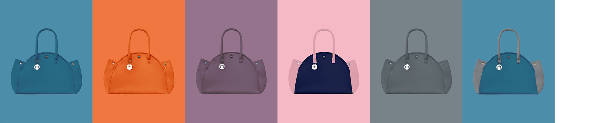 Neoprene-like foam Handbags L'Indomptable